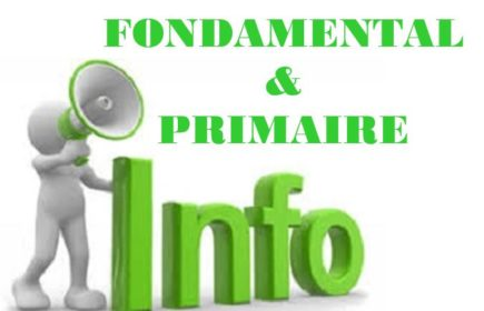 information 01 ok Fondamental et primaire