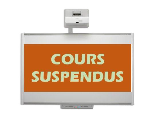 Cours suspendus 01